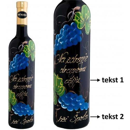 Personalizirano vino Amon - Modro grozdje - 0.75l (v.101)