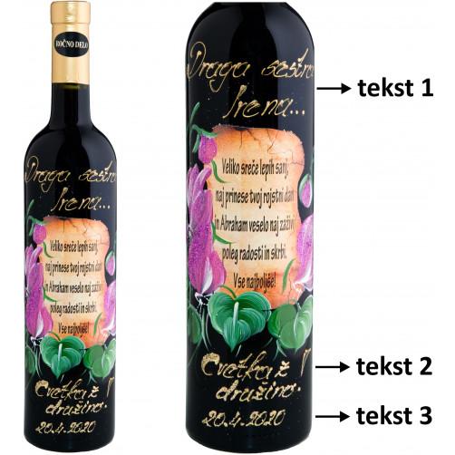 Personalizirano vino Amon - Tulipan in verz - 0,75l (v.103)