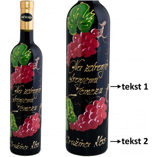 Personalizirano vino Amon-Rdeče grozdje in na zdravje-0.75l (v.106)