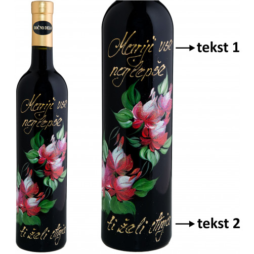 Personalizirano vino Amon-poslikava-Vrtnica-0.75l (v.110)